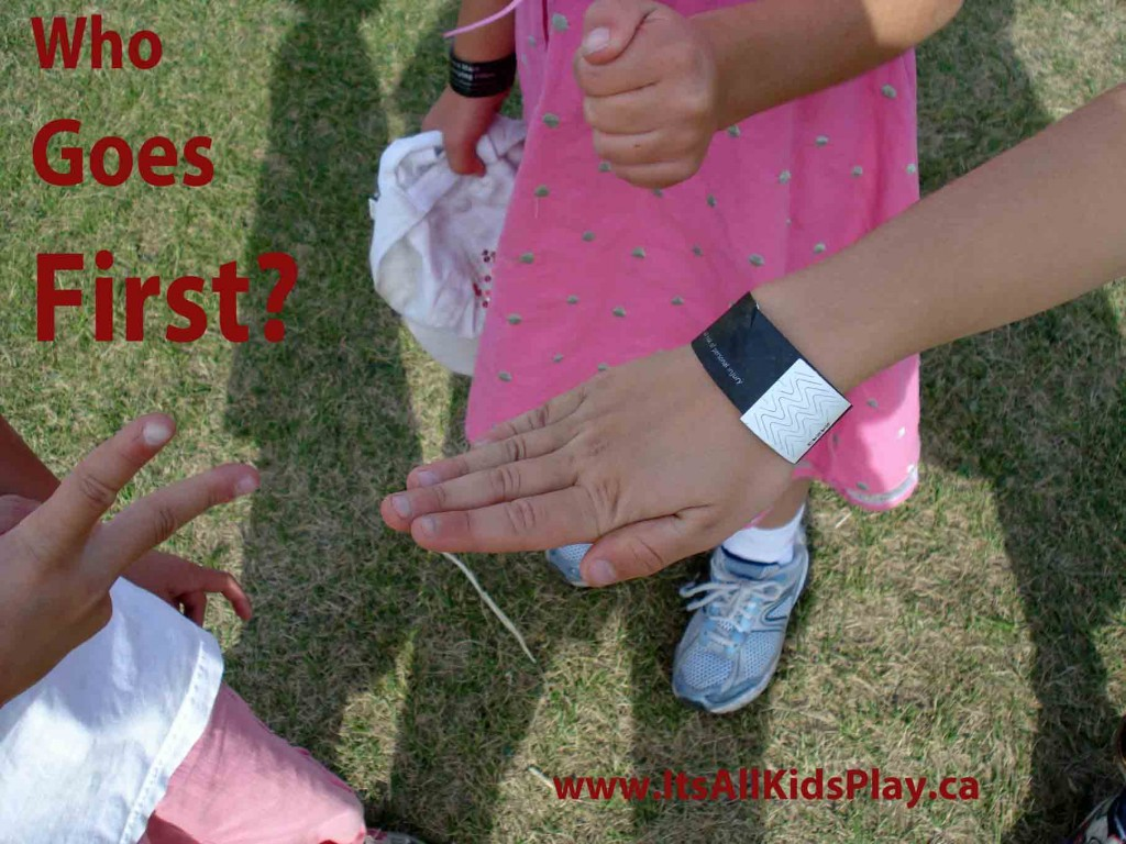 Picture of Kids Play Paper, Rock, Scissors to Decide Who Goes First in a Game