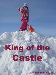 King of the Castle on a Snow Pile