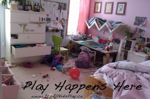 Play Happens Here--Messy Bedroom