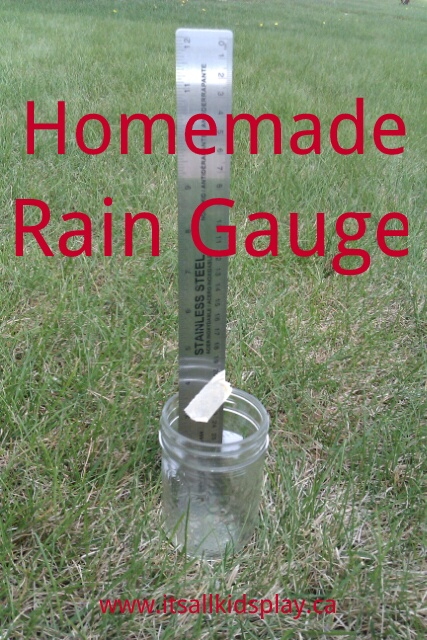 Homemade Rain Gauge for kids