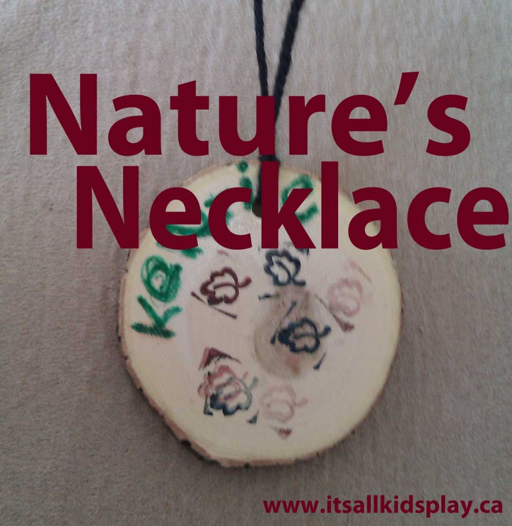 Nature's Necklace or a Wooden Medal