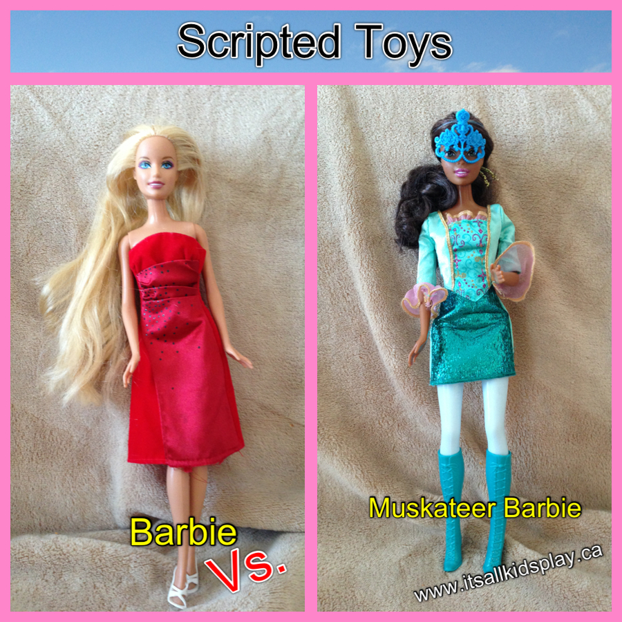 Scripted Toys: Barbie vs. Muskateer Barbie