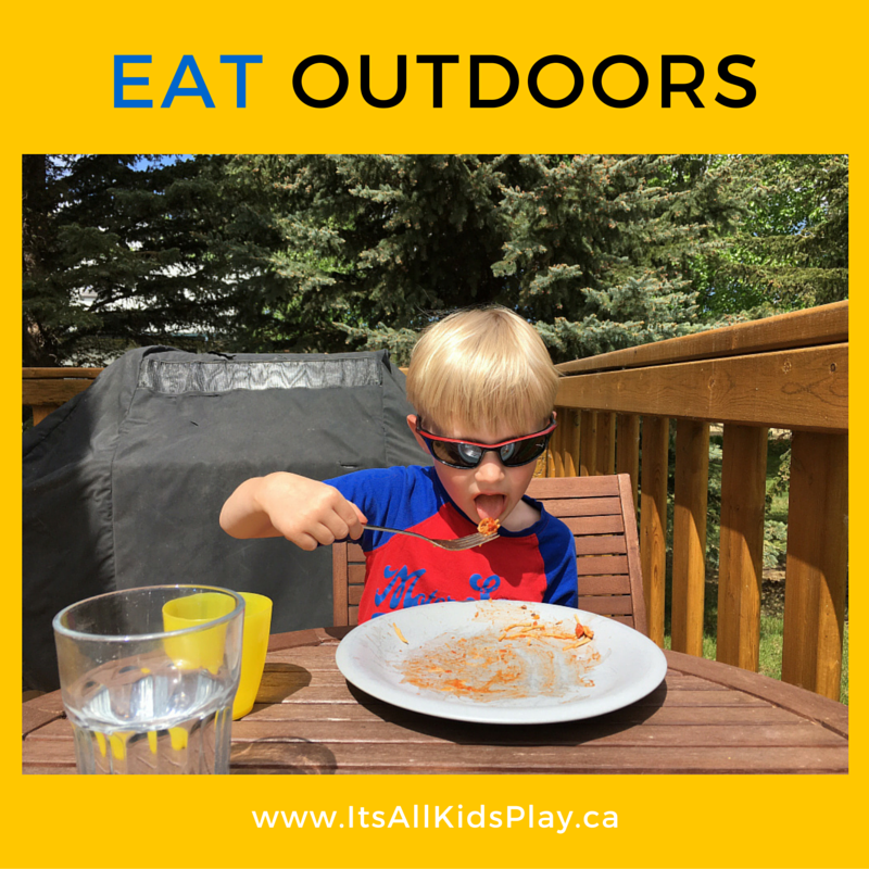 Eat outdoors